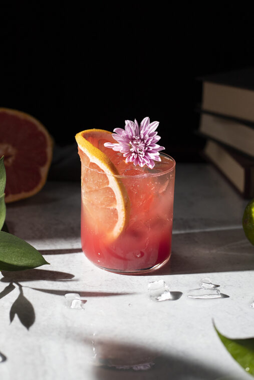 Winter Sun – a refreshing morning drink with grapefruit and pomegranate