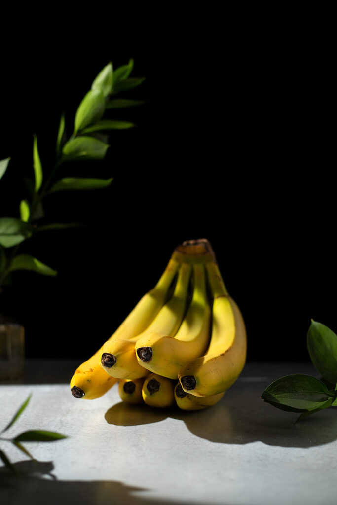 a bunch of bananas on a table.